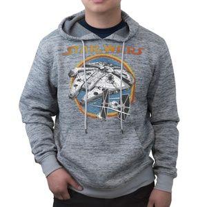 New! Star Wars Hoodie Sweatshirt Millennium Falcon